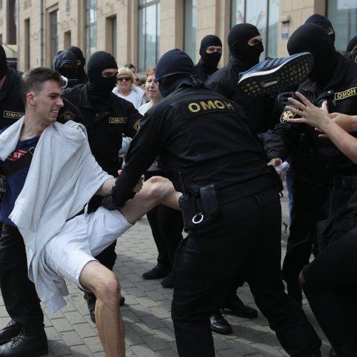 Per A. Lukašenkos gimtadienį – tūkstantinės minios protestas