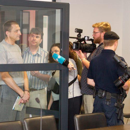 Ukrainiečio, kaltinamo tautiečių žudynėmis, teismas  © Laimio Steponavičiaus nuotr.