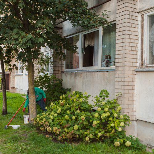 Sprogimas Vilijampolės daugiabutyje  © Laimio Steponavičiaus nuotr.
