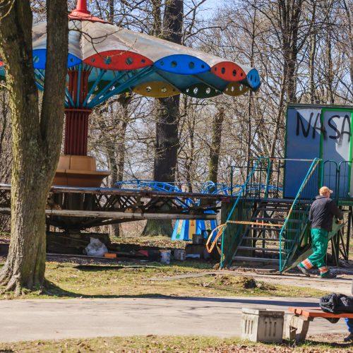 Ardomos Vytauto parko karuselės  © Laimio Steponavičiaus nuotr.