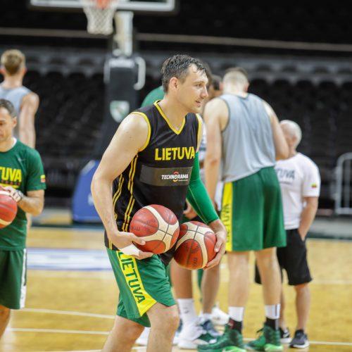 Atvira Lietuvos vyrų krepšinio rinktinės treniruotė  © Laimio Steponavičiaus nuotr.