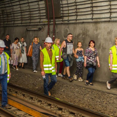 Inovatyvi ekspozicija Kauno geležinkelio tunelyje  © Laimio Steponavičiaus nuotr.