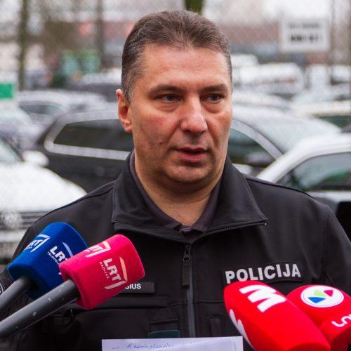 Kauno policija pristatė trikojų rezultatus  © Laimio Steponavičiaus nuotr.