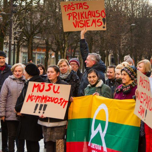 Protestas dėl Centrinio pašto išsaugojimo