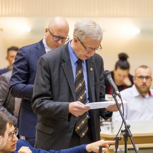 Kauno savivaldybės tarybos posėdis <span style=color:red;>(2019 gegužės mėn.)</span>  &#169; Laimio Steponavičiaus nuotr.