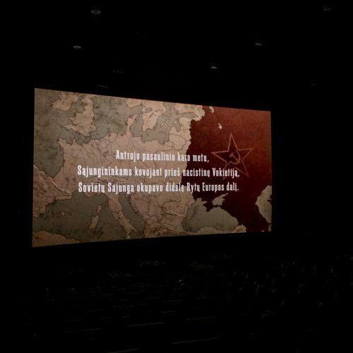 """Išankstinė filmo """"Tarp pilkų debesų"""" premjera Kaune  © Vilmanto Raupelio nuotr."""