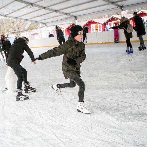 Džiaugsmai Raudondvario dvaro čiuožykloje