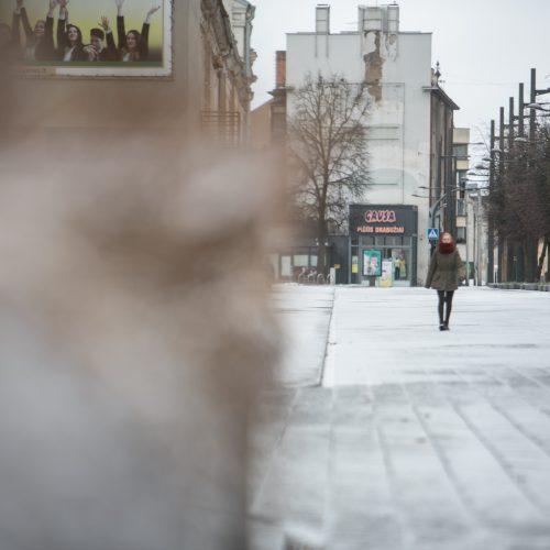 Sekmadienį Kauną nuklojo sniegas  © Vilmanto Raupelio nuotr.