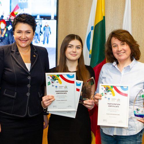 Europos jaunimo olimpinio žiemos festivalio sportininkų pagerbimas  © P. Peleckio / Fotobanko nuotr.