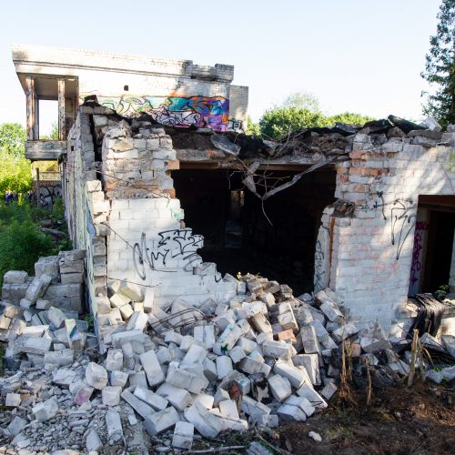 Vilniuje pradėtas griauti pastatų kompleksas  © P. Peleckio / Fotobanko nuotr.