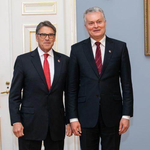 G. Nausėda susitiko su JAV energetikos sekretoriumi