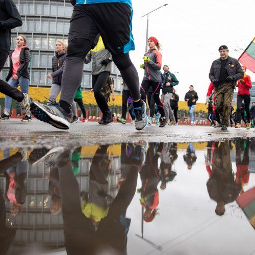 """Tradicinis pagarbos bėgimas """"Gyvybės ir mirties keliu""""  © I. Gelūno / Fotobanko nuotr."""