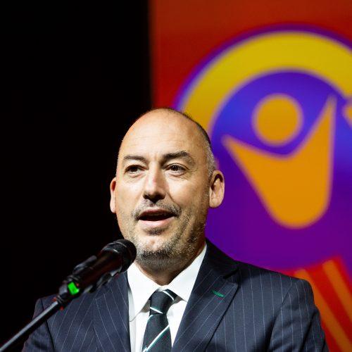 FIFA Pasaulio salės futbolo čempionato emblemos pristatymas  © I. Gelūno / Fotobanko nuotr.