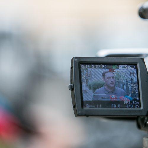 Komentaras dėl įvykio Jonavos rajono policijos komisariate  © Vilmanto Raupelio nuotr.