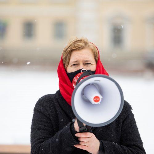 """Vilniuje – šokio grupės """"Spokšok"""" akcija už moterų teises  © I. Gelūno / Fotobanko nuotr."""