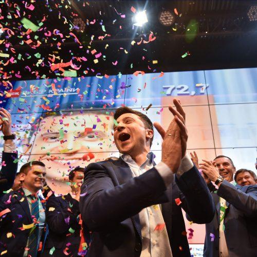 V. Zelenskio pergalė Ukrainos prezidento rinkimuose