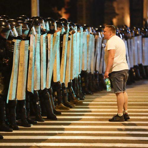 Protestai po rinkimų Baltarusijoje  © Scanpix nuotr.