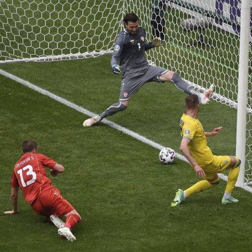 Europos futbolo čempionatas: Ukraina–Šiaurės Makedonija 2:1  © Scanpix nuotr.