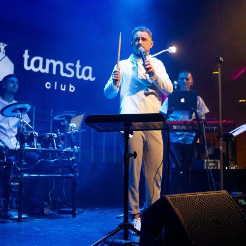 """D. Vaitiekūno šokių muzikos programa """"Geras žmogus""""  © Irmanto Gelūno/Fotobankas nuotr."""