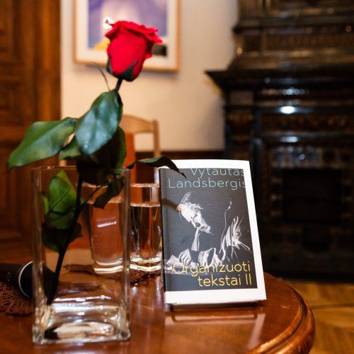 """V. Landsbergio knygos """"Organizuoti tekstai - II"""" pristatymas  © G.Skaraitienės/Fotobanko nuotr."""