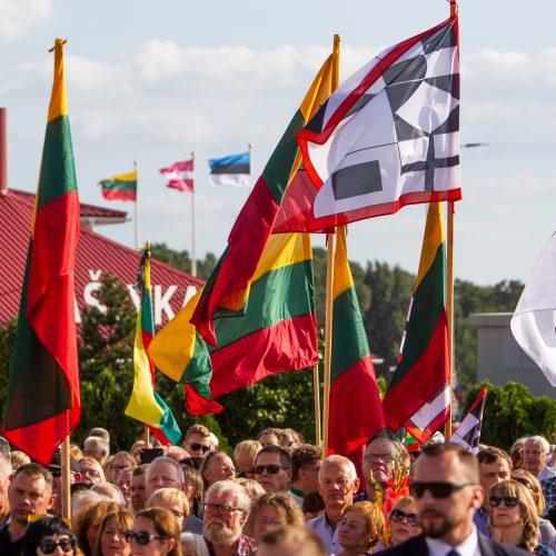 Baltijos kelio 30-ųjų metinių minėjimas prie Latvijos sienos  © I. Gelūno/Fotobanko nuotr.