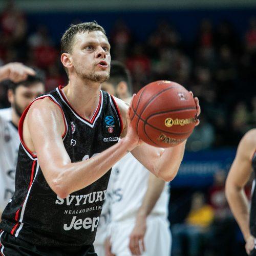 """Europos taurė: Vilniaus """"Rytas"""" –  Belgrado """"Partizan"""" 61:66"""