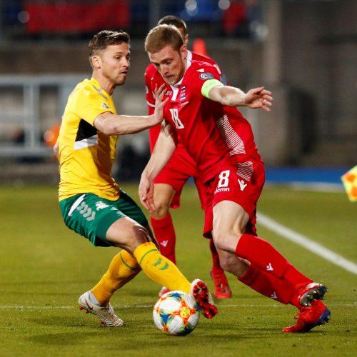 Futbolas: Liuksemburgas – Lietuva 2:1  © Scanpix nuotr.