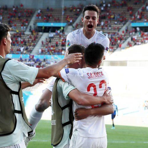 Europos futbolo čempionatas: Slovakija–Ispanija 0:5  © Scanpix nuotr.