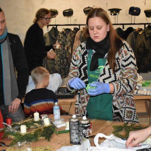 Adventinių vainikėlių dirbtuvės ir Adventinė vakarienė  © Kauno tvirtovės parko nuotr.