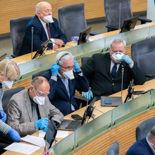 Nenumatytas Seimo posėdis  © O. Posaškovos (LR Prezidento kanceliarijos) nuotr.