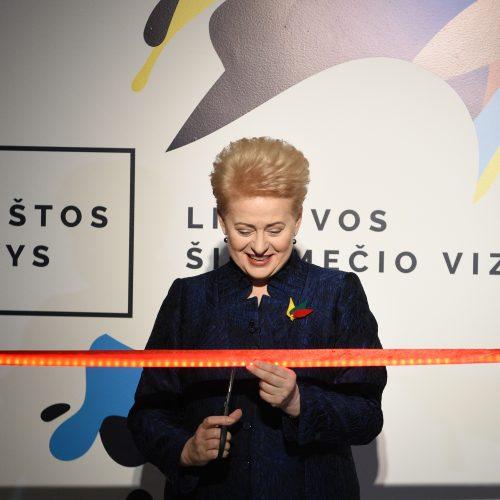Prezidentė Valstybės pažinimo centre atidarė parodą  © R. Dačkaus / Prezidentūros nuotr.