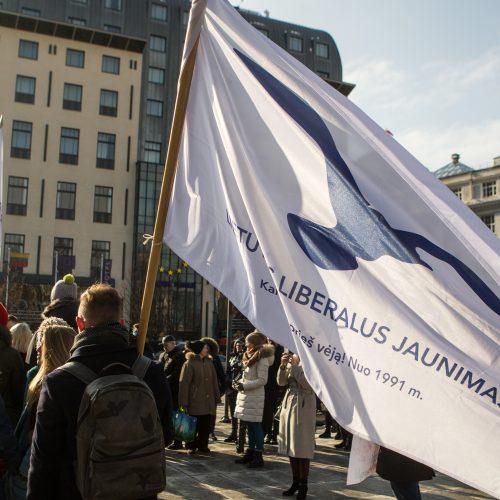 Prie Vyriausybės – akcija už homoseksualų teises  © V. Skaraičio / BFL nuotr.