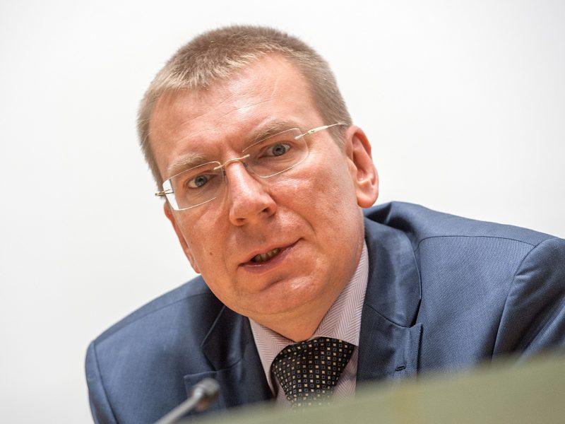 Latvijos URM vadovas ragina kuo greičiau imtis prieš Baltarusiją sektorinių sankcijų