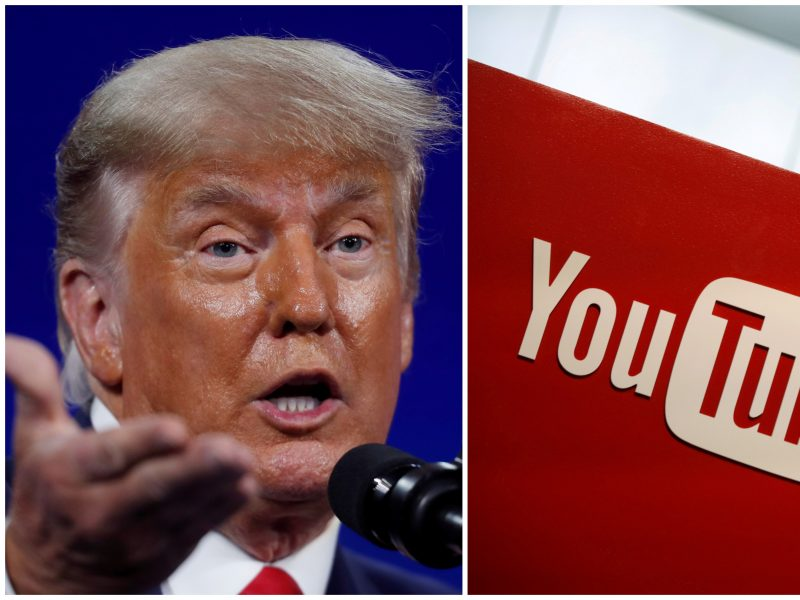 """""""YouTube"""" vadovė: D. Trumpui bus leista grįžti į platformą, kai sumažės smurto grėsmė"""