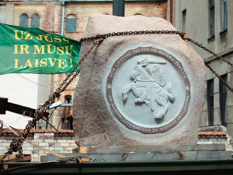 Į Griunvaldą gabenamas akmuo Žalgirio mūšio metinėms paminėti