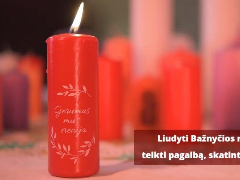 """""""Gerumas mus vienija"""": """"Caritas"""" ragina uždegti žvakeles"""