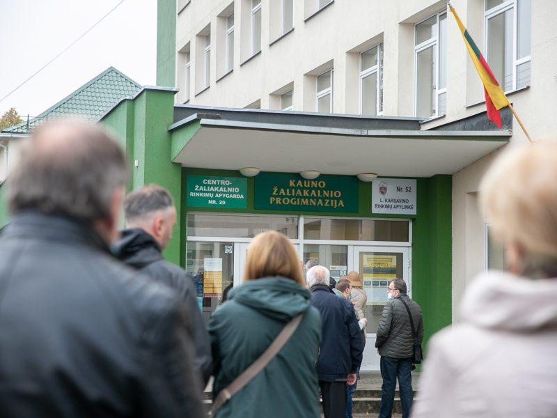 Kauniečiai renka naują Seimą (balsavimas rinkimų antrajame ture)