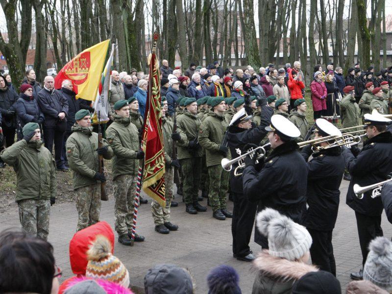 Klaipėdos sukilėlių garbei – šautuvų salvės ir kariliono varpų gausmas
