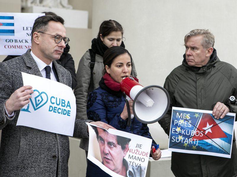 Protestas prieš ES ir Kubos sutarties ratifikavimą
