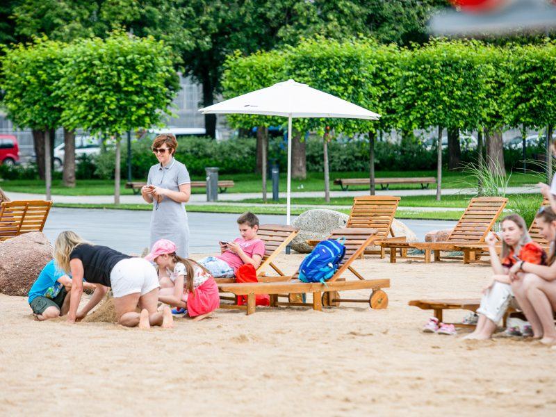 NVSC: paplūdimys Lukiškių aikštėje kelia epidemiologinę riziką