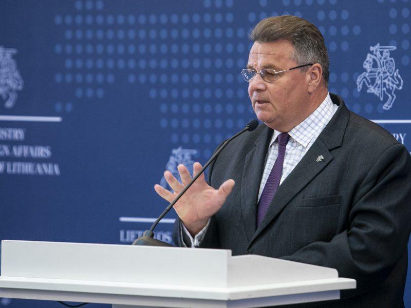 L. Linkevičiaus spaudos konferencija