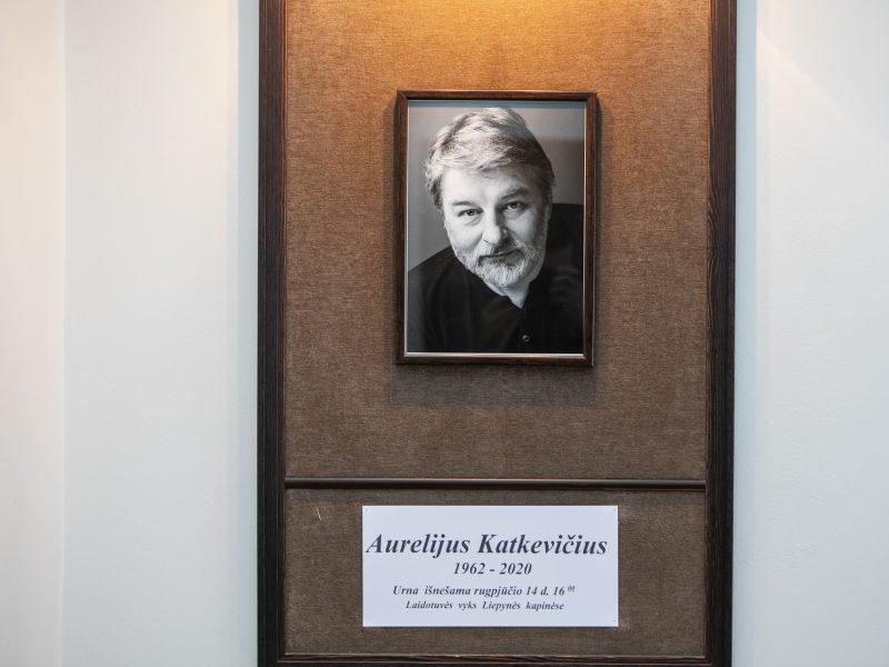 Atsisveikinimas su žurnalistu A. Katkevičiumi