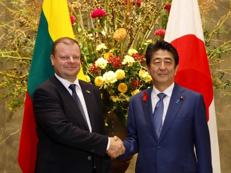 S. Skvernelis ir Japonijos premjeras pasidžiaugė išaugusia dvišale prekyba