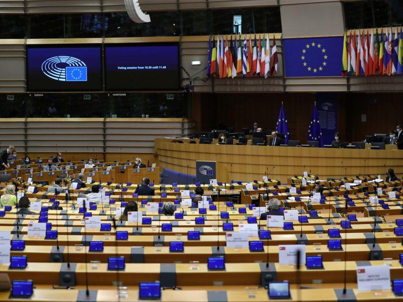 EP balsuojant dėl Baltarusijos susilaikė du Lietuvos atstovai