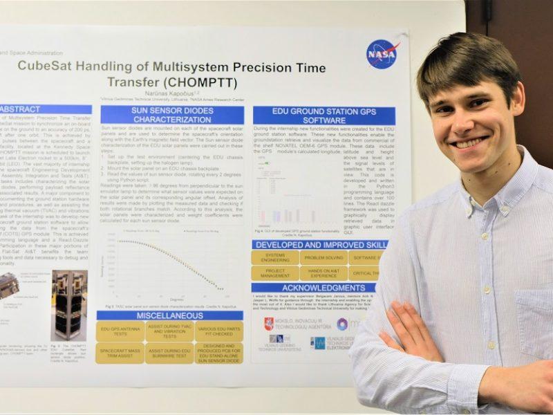 VGTU studento įspūdžiai NASA: Lietuva žinoma dėl palydovų kūrėjų