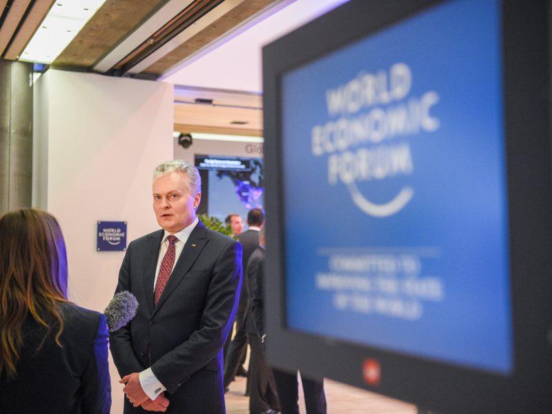 G. Nausėda dalyvauja Pasaulio ekonomikos forume