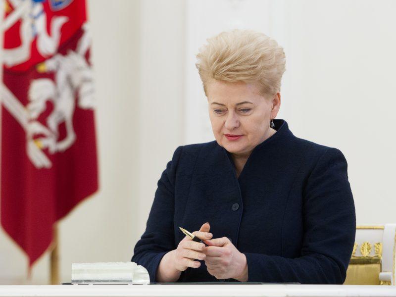 Prezidentė pritaria ES Bendrojo Teismo teisėjų kandidatūroms