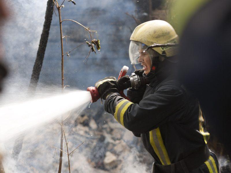 Nelaimė Marijampolės savivaldybės ribose: Purviniškės kaime degė namas