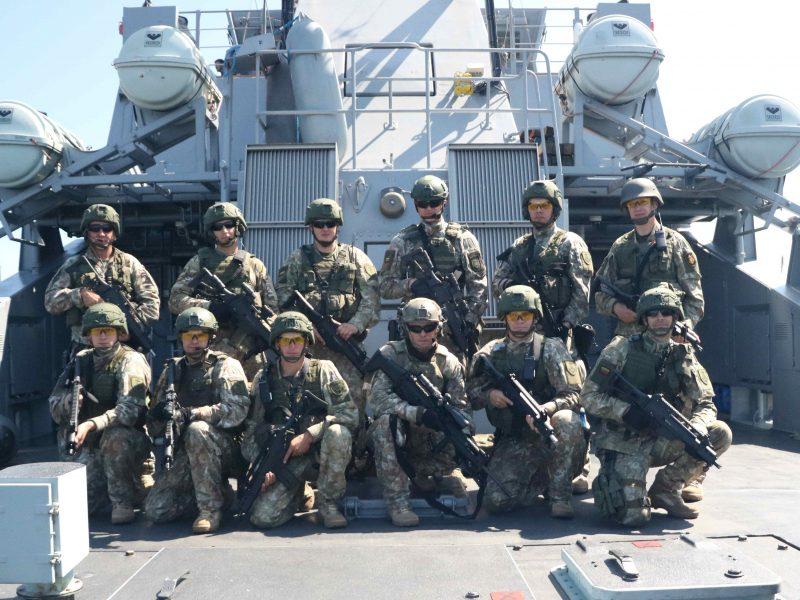 Lietuvos kariai išvyksta į ES karinę jūrų operaciją prie Somalio krantų