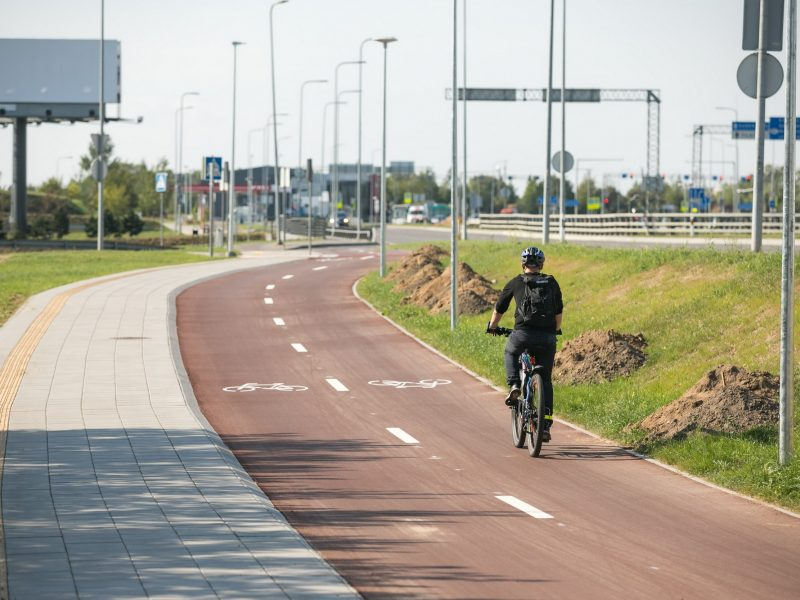 Pilaitiškių patogumui – naujas dviračių ir pėsčiųjų takas